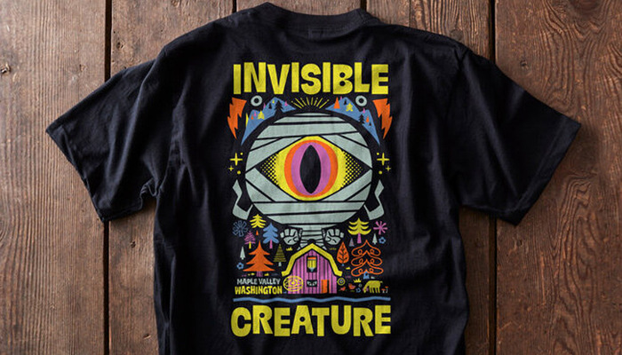 """Chris Lee × IC – """"Invisible Creature"""" T-shirt 1"""