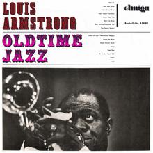 Louis Armstrong – <cite>Oldtime Jazz</cite> album art