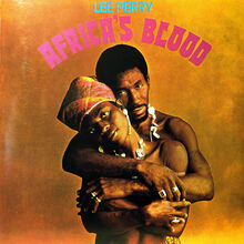 Lee Perry – <cite>Africa's Blood </cite>album art