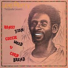 Lee Perry – <cite>Roast Fish Collie Weed &amp; Corn Bread </cite>album art