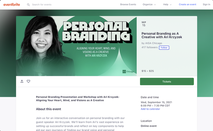 Personal Branding as a Creative event identity 2
