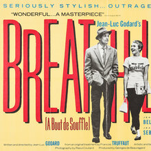 <cite>Breathless</cite> (1960) British movie poster