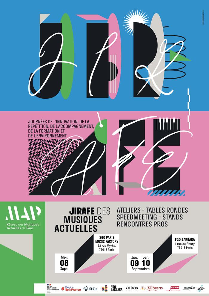 JIRAFE 2021 by Réseau MAP visual identity system 6