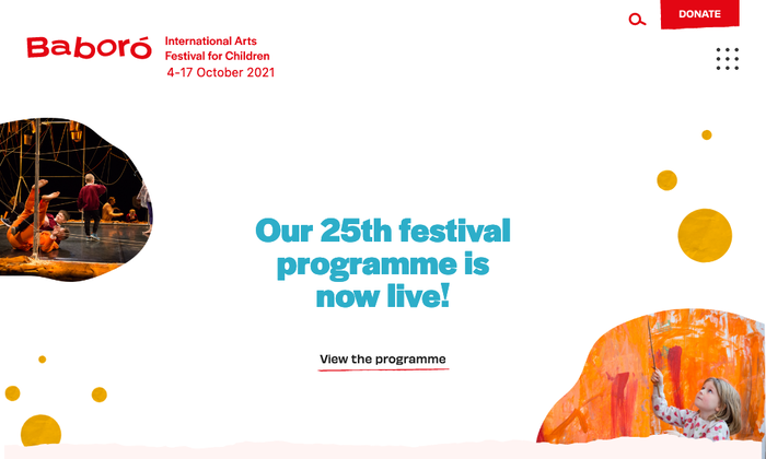 Baboró festival website 1