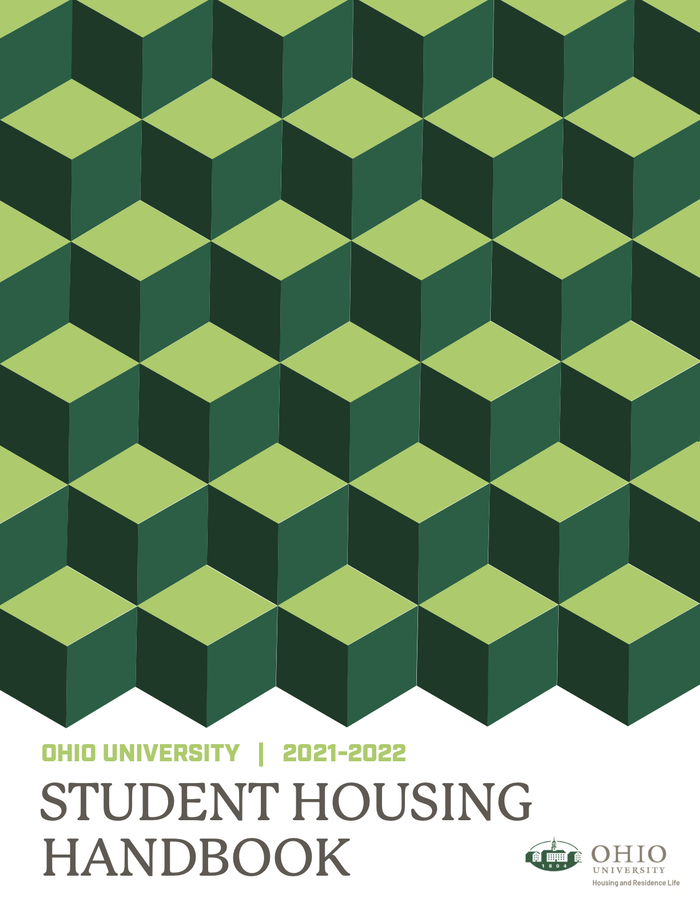 Cover of the Student Housing Handbook.