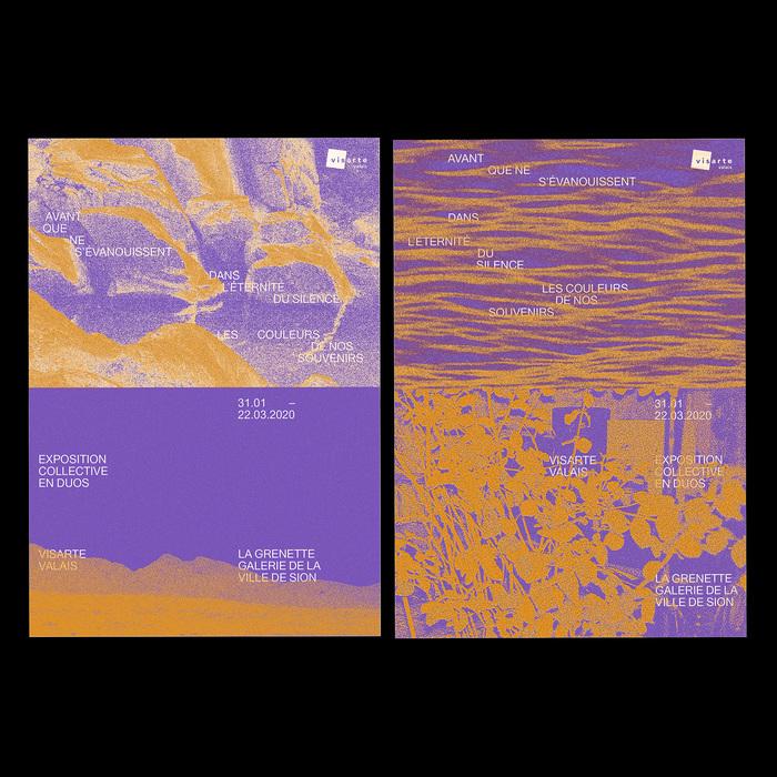 Avant que ne s'évanouissent dans l'éternité du silence les couleurs de nos souvenirs exhibition posters 2