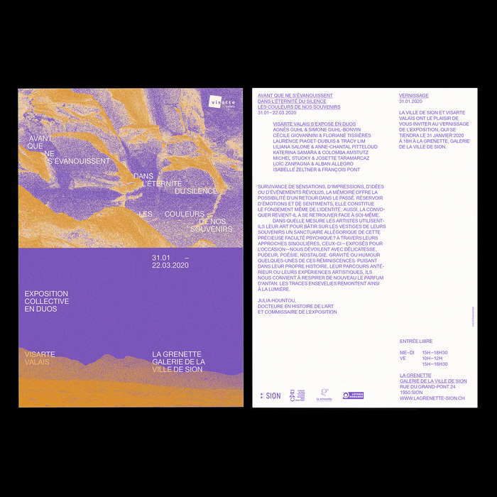 Avant que ne s'évanouissent dans l'éternité du silence les couleurs de nos souvenirs exhibition posters 3