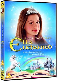 <cite>Ella Enchanted</cite> (2004) packaging and poster
