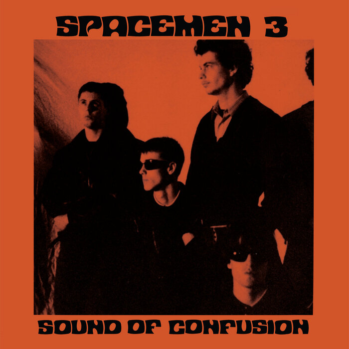 Sound of Confusion, the band's 1986 debut album, released by Glass Records. Cover designed by Spacemen3.