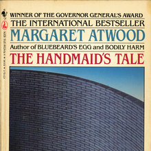 <cite>The Handmaid's Tale</cite> by Margaret Atwood (Bantam, 1986)