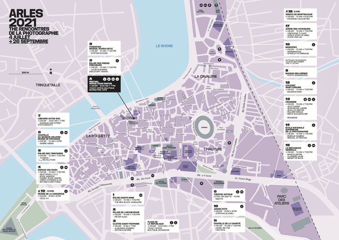 Map with venues.