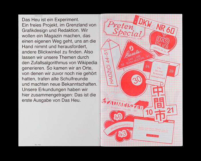Das Heu magazine, Issue 01 7