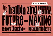 "<cite>Bon Appétit</cite>, ""The Restaurant Issue"", October 2021"