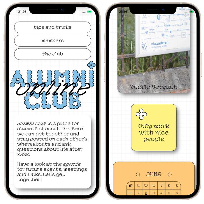 KASK School of Arts Alumni Club website 2