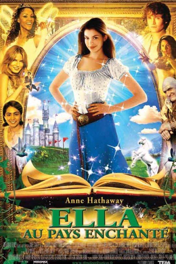 Promotional poster for Ella au pays enchanté, the French language version.