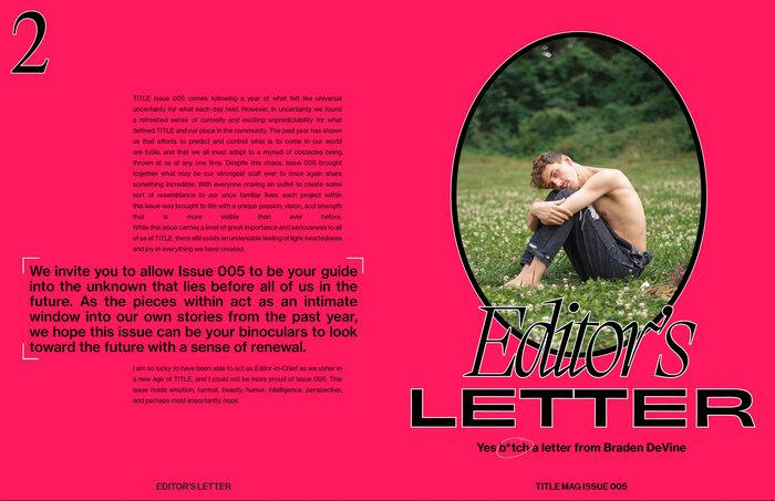 Title magazine rebrand, issue 005 4