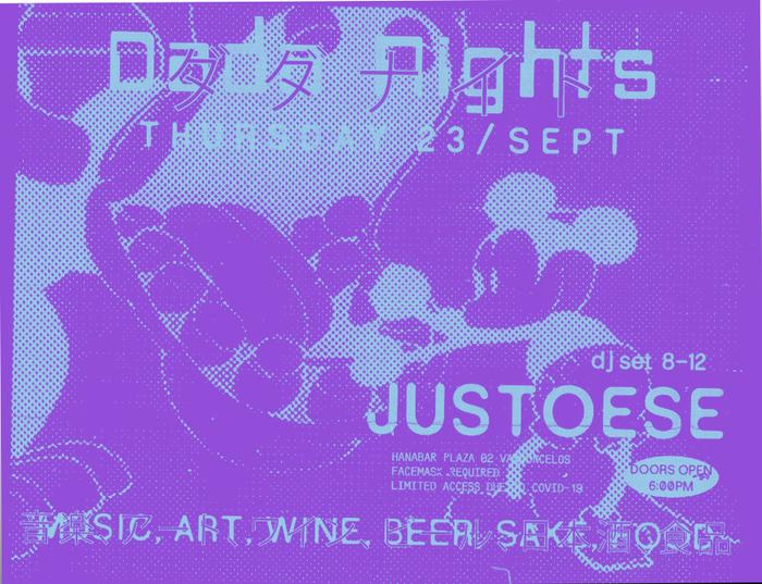 Dada Nights flyers, September 2021 1