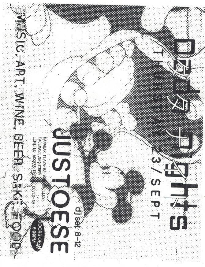 Dada Nights flyers, September 2021 2
