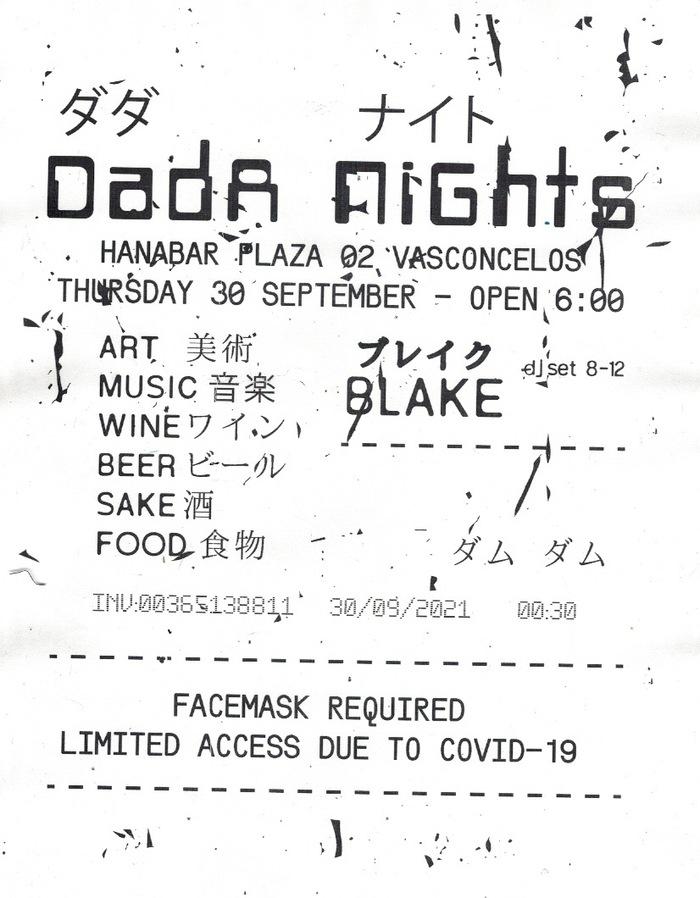 Dada Nights flyers, September 2021 3