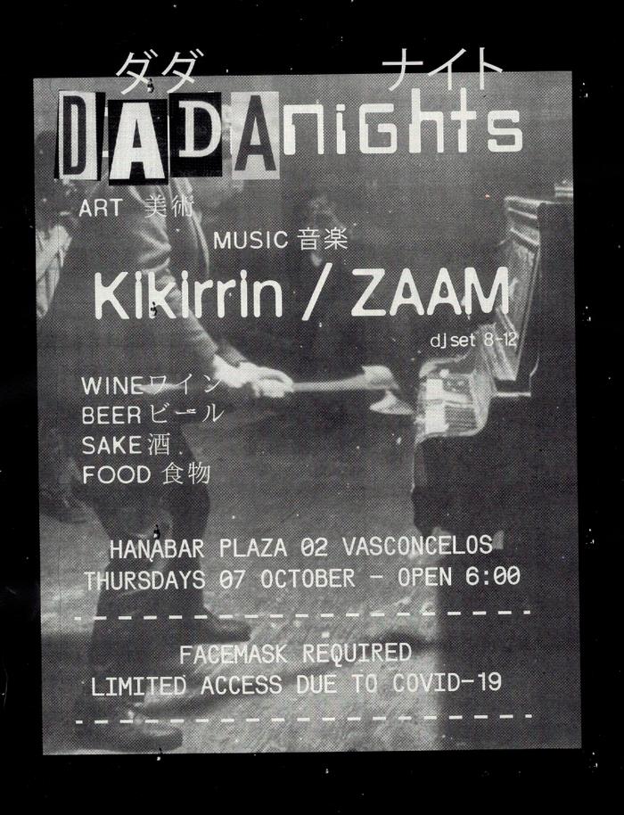 Dada Nights flyers, September 2021 5