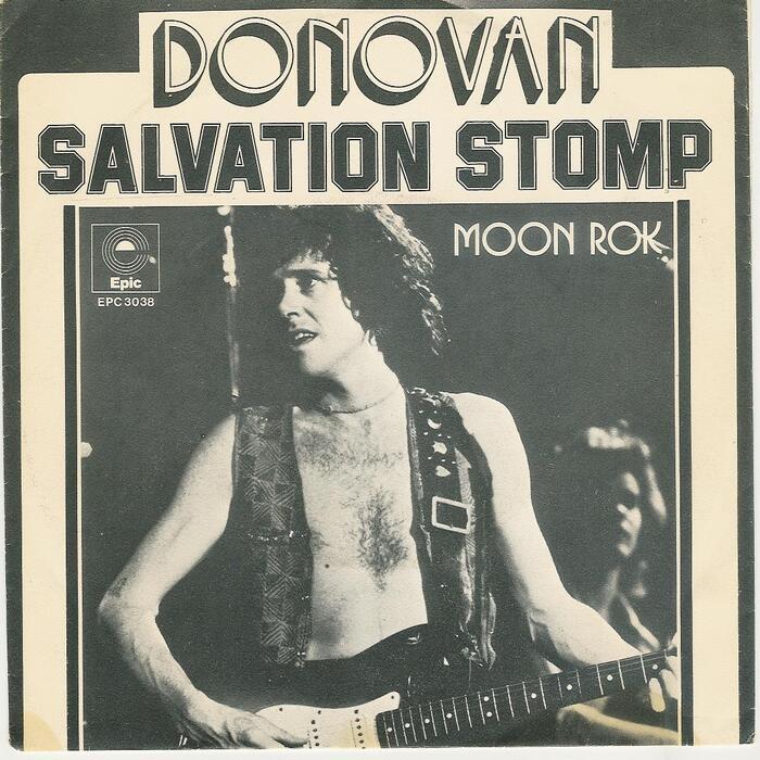 "Donovan – ""Salvation Stomp"" / ""Moon Rok"" Dutch single cover"