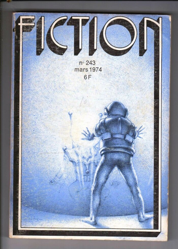Fiction #243, March 1974, with cover art by Bourgeois.