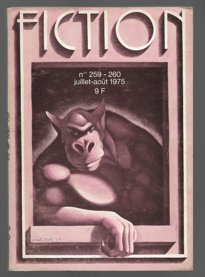 Fiction #259–260, July/August 1975, with cover art by Richard Martens, and a softened shadow for the logo.