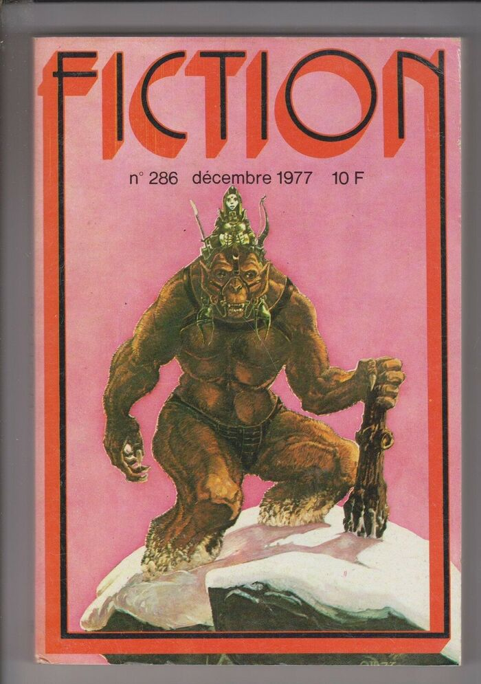 Fiction #286, December 1977, with cover art by François Allot.