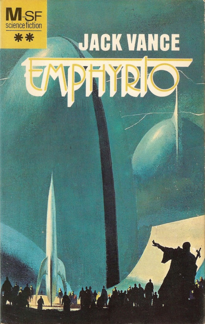 Emphyrio (Meulenhoff, 1973). Cover art by Paul Lehr. [More info on ISFDB]