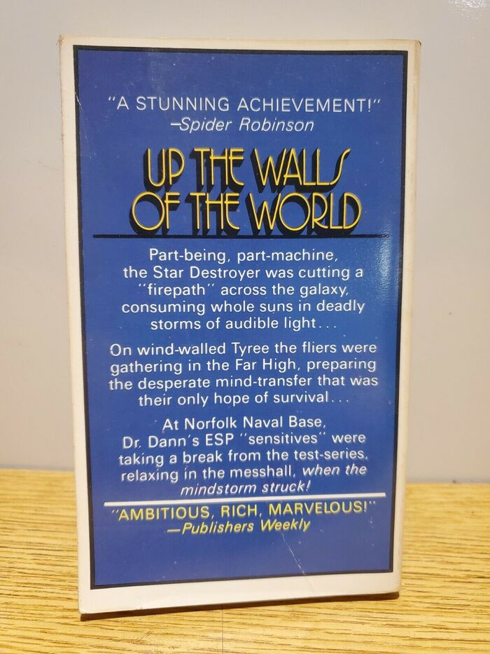 Up the Walls of the World by James Tiptree, Jr. (Berkley, 1979) 5