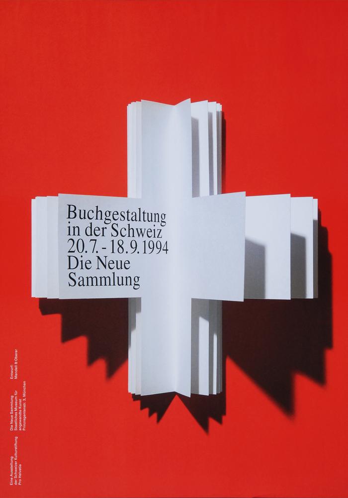 Buchgestaltung in der Schweiz exhibition poster