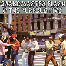 Grandmaster Flash &amp; The Furious Five – <cite>The Message</cite> album art