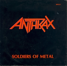 "Anthrax – ""Soldiers Of Metal"" / ""Howling Furies"" single cover"