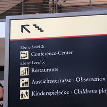 Hamburg Airport signs