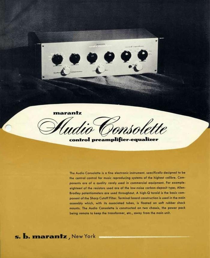 Audio Consolette Model 1 (1952 edition)sales sheet