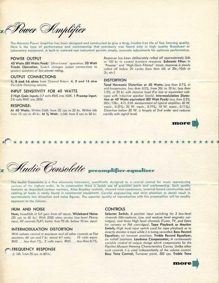 Audio Consolette Model 2 brochure