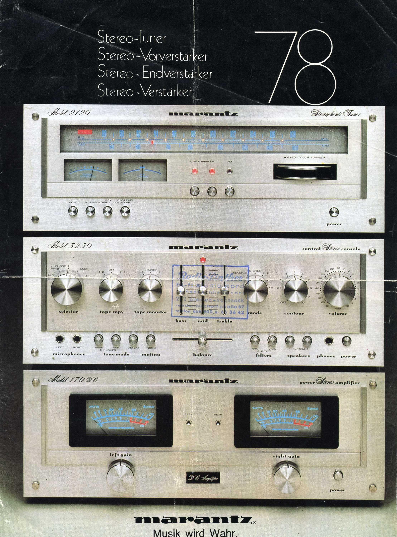 Marantz Receivers (1970s) - Fonts In Use