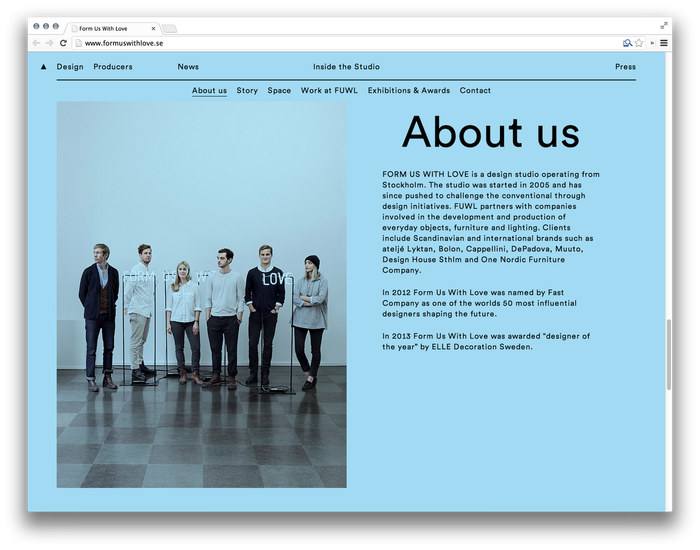 Form Us With Love website 2