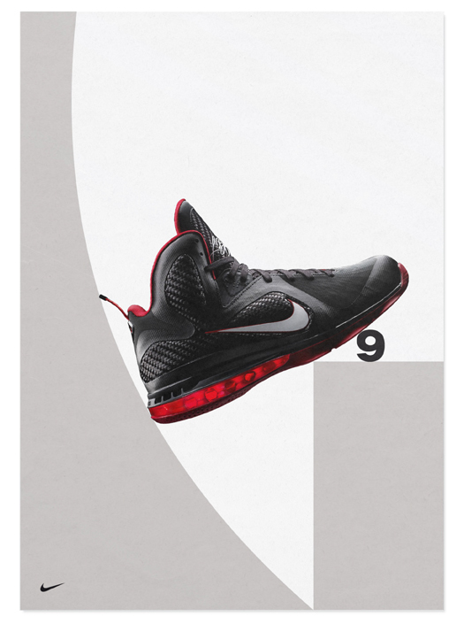 Nike LeBron 9 Shoes Ads (Design Explorations) 4