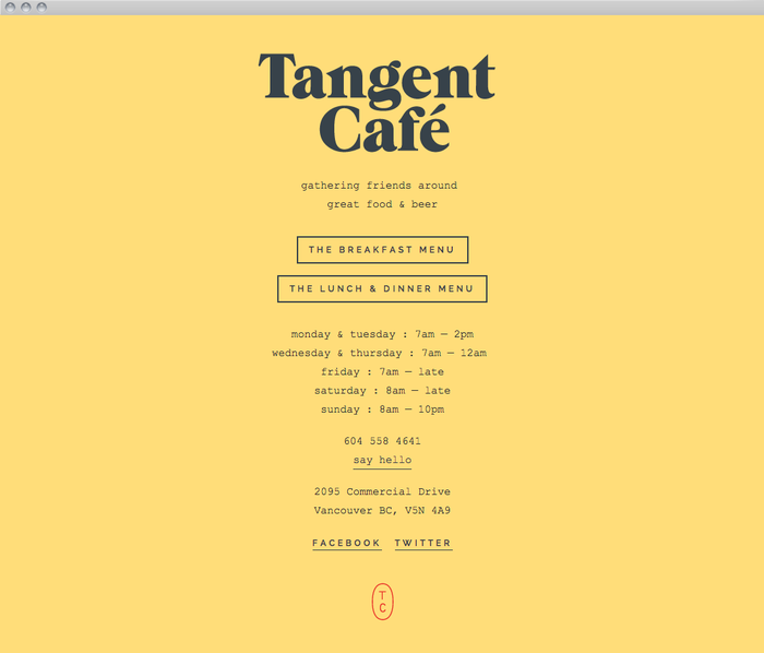 Tangent Café 3