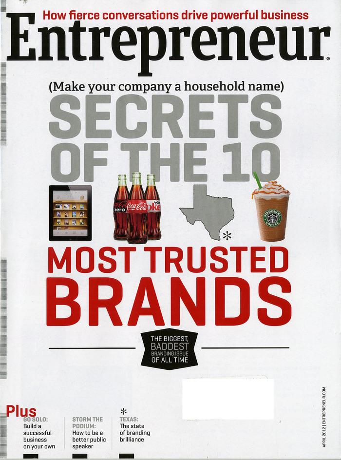 Entrepreneur magazine covers, 2012–13 6
