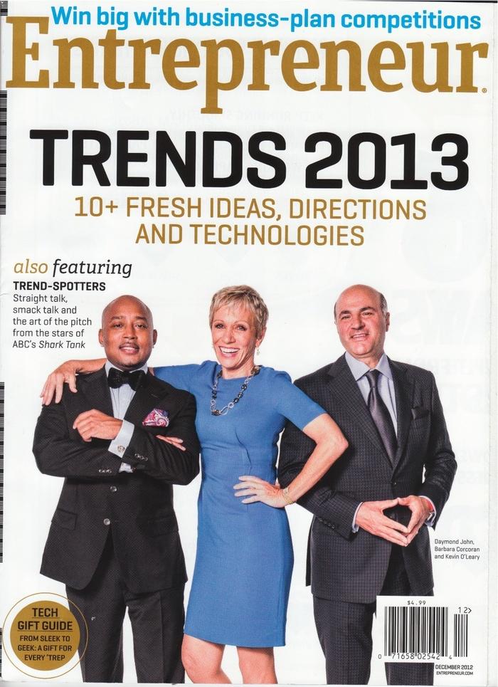 Entrepreneur magazine covers, 2012–13 5