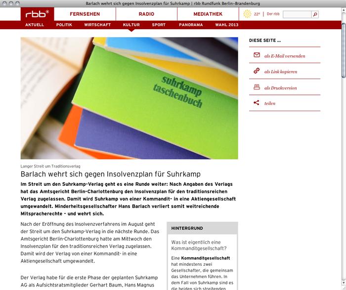 RBB Radio Brandenburg Berlin Website 1