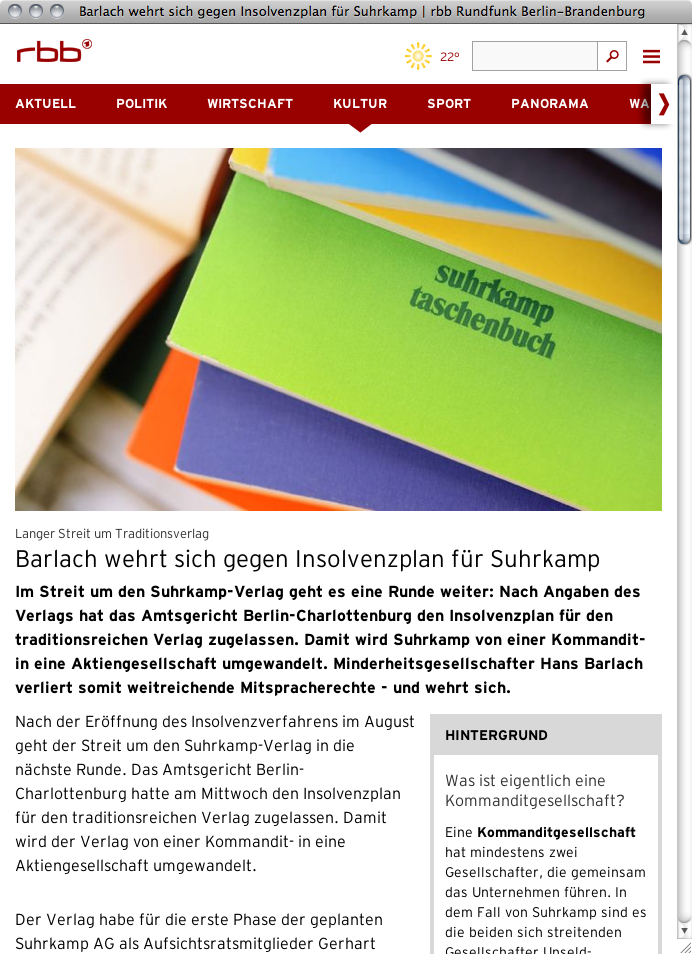 RBB Radio Brandenburg Berlin Website 2