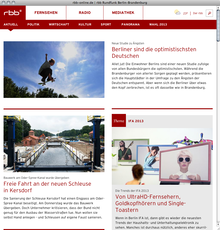 RBB Radio Brandenburg Berlin Website