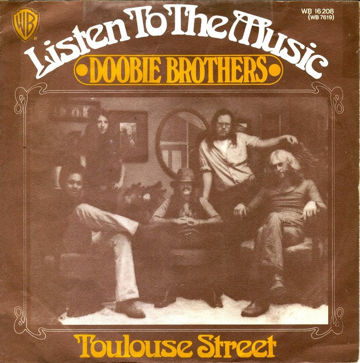 "Doobie Brothers – ""Listen To The Music"" German single cover (1972)"