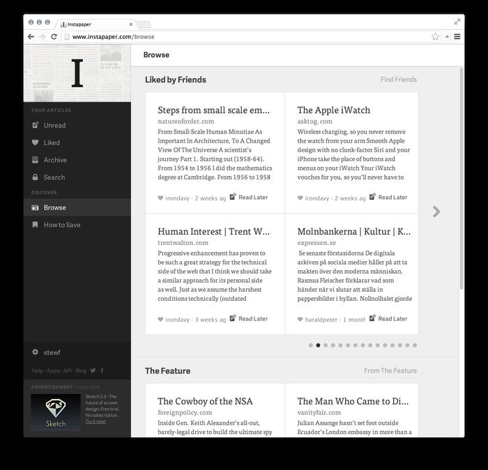 Instapaper Website (2013 Redesign) 3