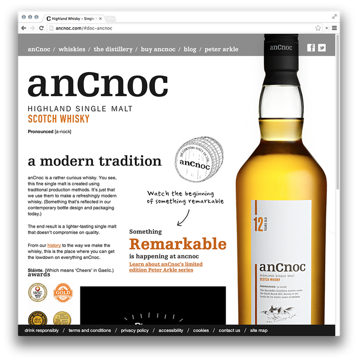 anCnoc Highland Single Malt Scotch Whisky 12