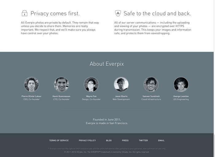 Everpix Website and Web App 9