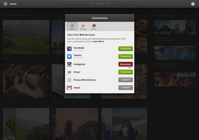 Everpix Website and Web App 12